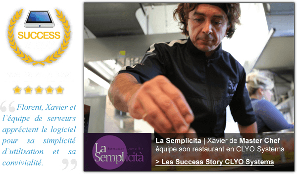 Les success story CLYO SYSTEMS: Xavier de Master chef
