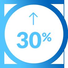Pictogramme augmentation 30 pour cent