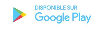 Logo google play blanc