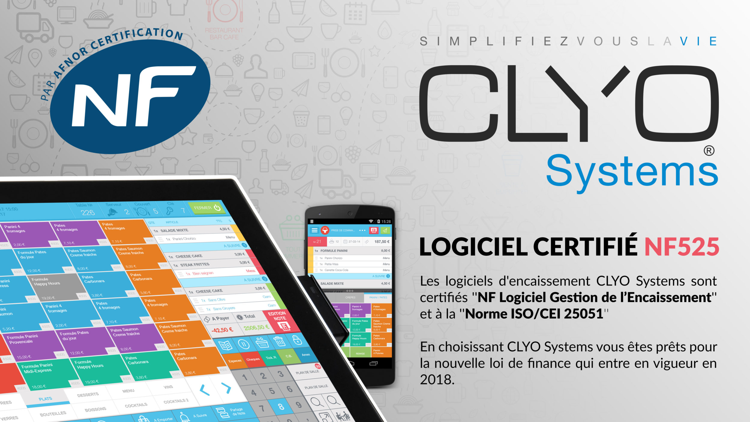 Logiciel CLyo Systems sur caisse et mobile