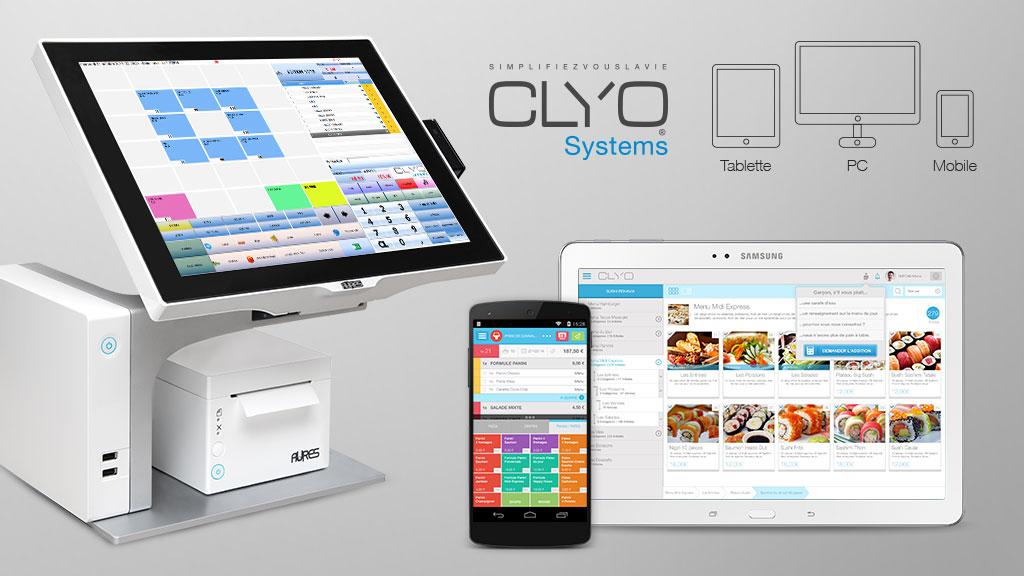 affichage de présentation du logiciel de caisse Clyo Systems