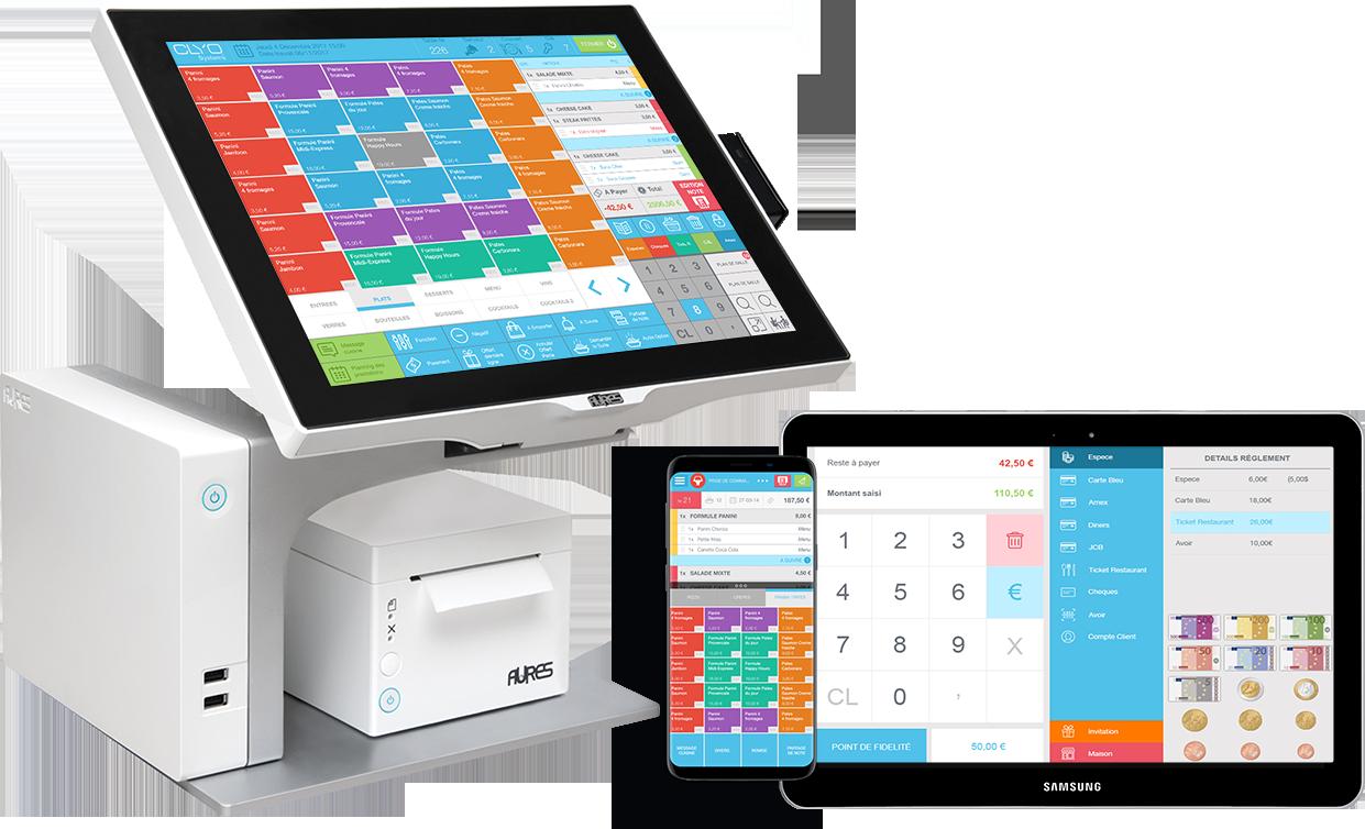 Logiciel de caisse sur smartphone tablette et dispositif Clyo Systems