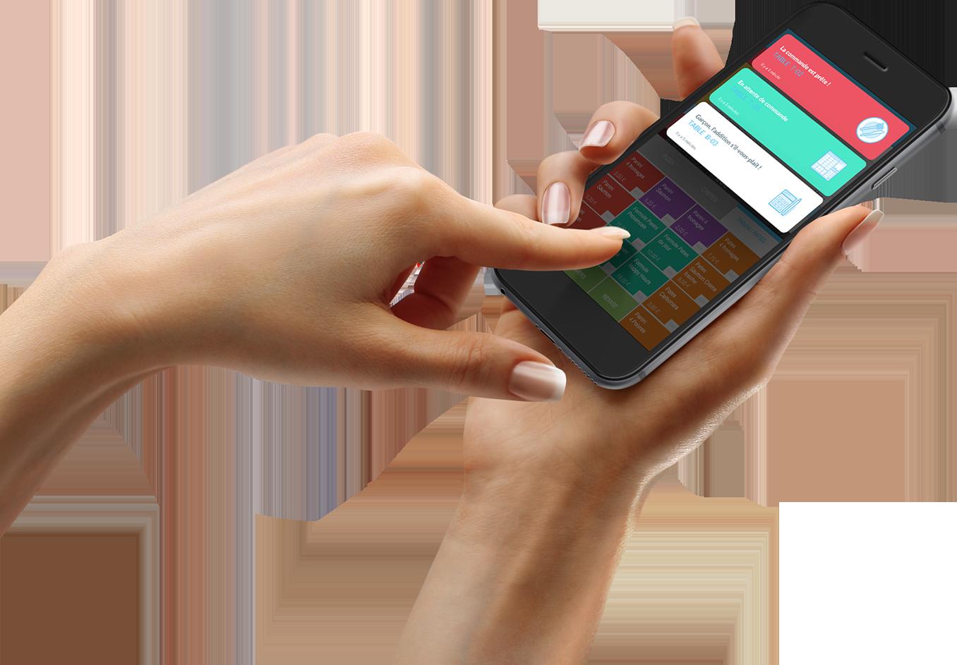 Logiciel de caisse Clyo Systems sur smartphone