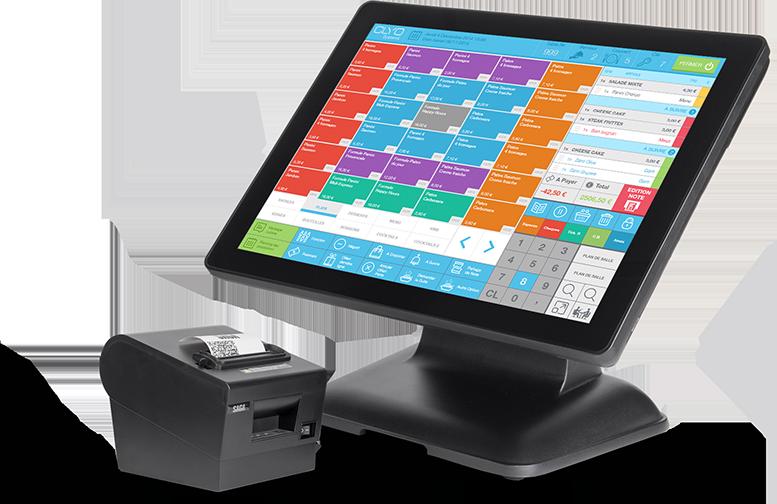 Caisse enregistreuse Clyo Systems avec imprimante de ticket