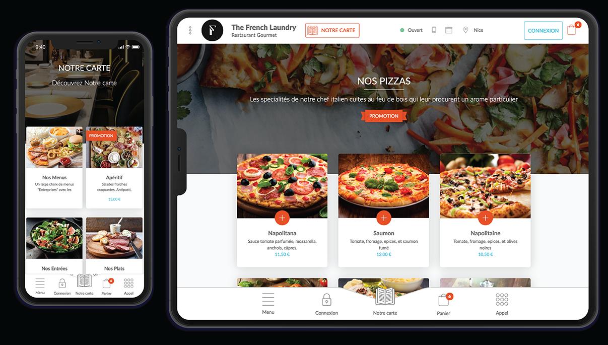 Visuels de site réalisé avec Clyo digital sur mobile et tablette
